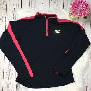 Mizuno pullover half zip athletic top M